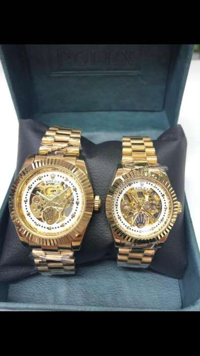 Reloj Rolex Automático Pareja Dorados