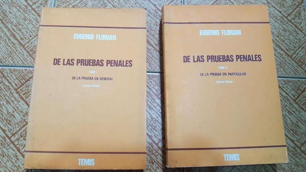 Libro: De las pruebas penales. Eugenio Florian