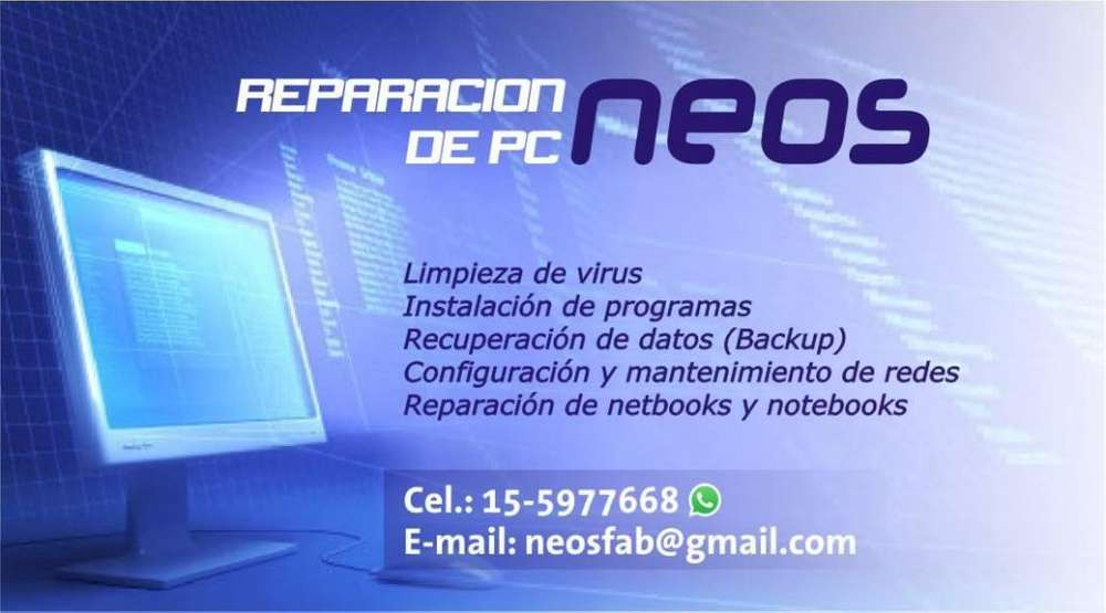 Reparacion de PC y notebooks
