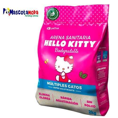 Arena para gatos Hello Kitty aglomera y elimina olores