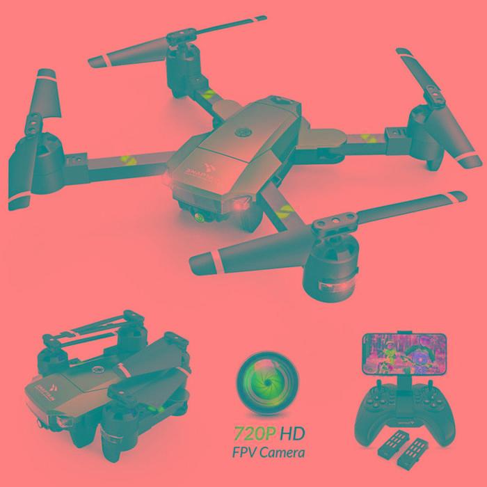 SNAPTAIN A15 - Dron FPV WiFi plegable con cámara HD 720P de ángulo amplio de 120