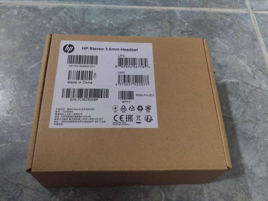 Audifonos HP Stereo 3.5MM REF. 839892001 (NUEVO)