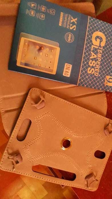 Funda Tablet 8 Pulgadas Y Vidrio Templad