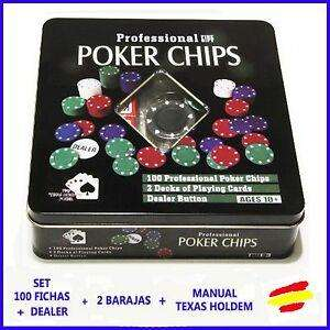Set De Póker Texas Hold 100 Fichas