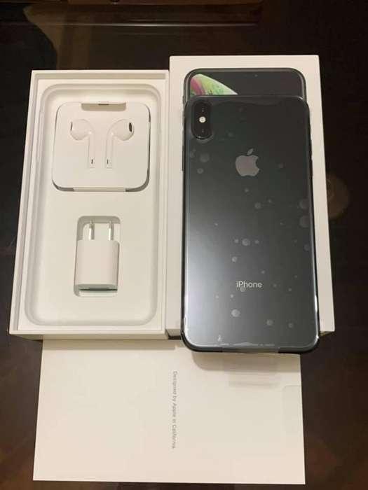 iPhone XS MAX, 64gb 10 de 10 accesorios sellados, batería 100%