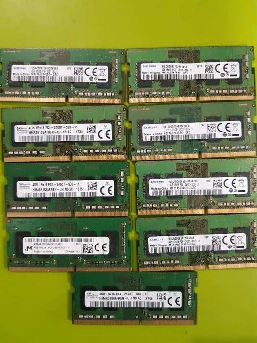 Memorias de Portatil Ddr4 de 4 Y 8 Gb