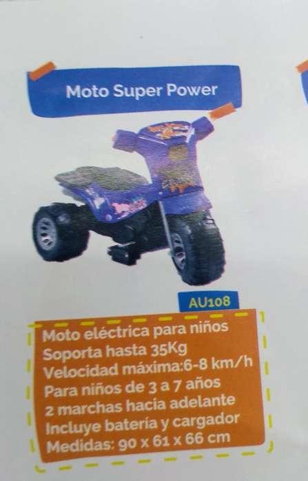 Moto Electrica para Niños de 3a7 Años