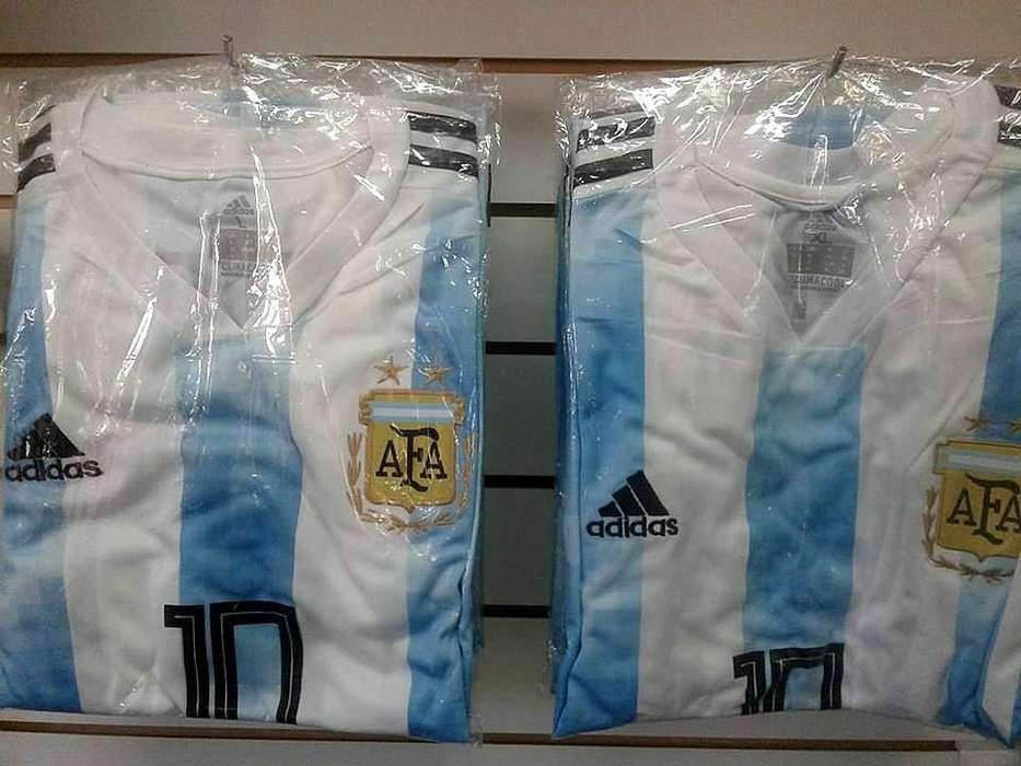 Camiseta Argentina Oficial Mundial Rusia 2018 Hombre tarjetas