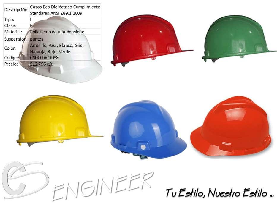 Casco de Seguridad Blanco, Amarillo, Rojo, Azul, Verde, Naranja