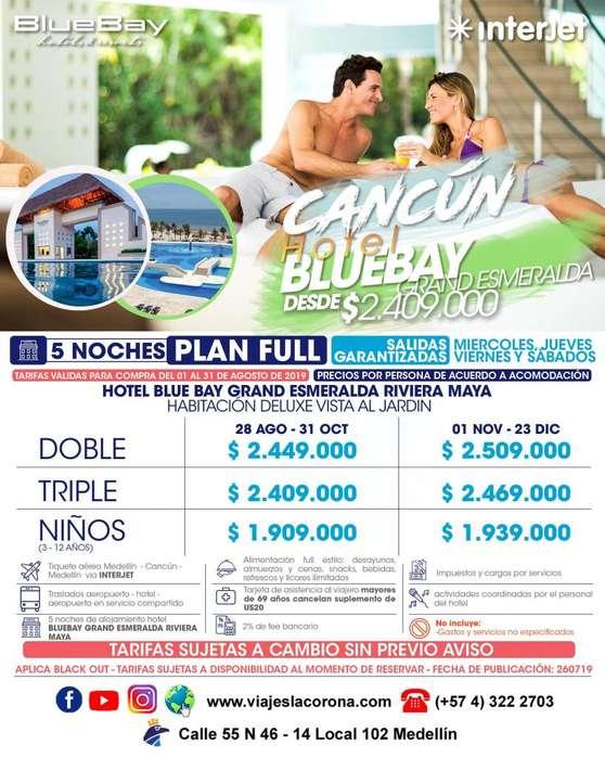 Viaje como un Rey a Cancún HOTEL BLUEBAY GRAND ESMERALDA con Viajes la Corona