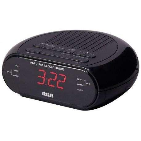 Radio Reloj Despertador Rca Am Fm Alarma Numeros Rojos