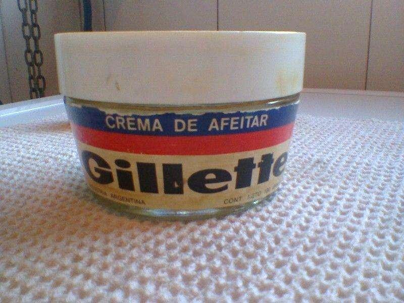 Antiguo frasco Gillette!!! Retro! Crema de Afeitar