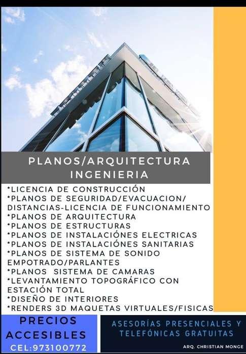 Planos Arquitectura Ingeniería Topograf