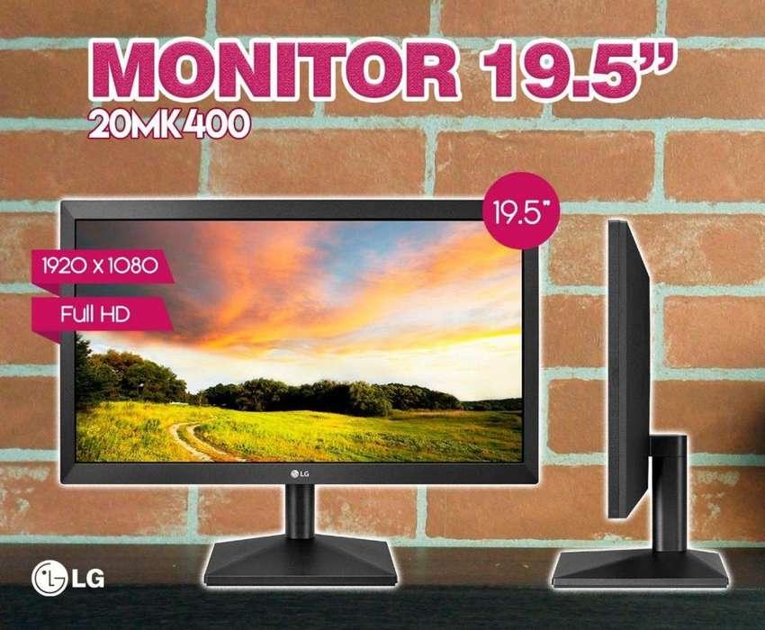LG MONITOR 19,5 PULGADAS MODELO 20MK400 NUEVOS! INCLUYE CABLE VGA Y HDMI