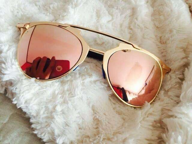 Lentes Modelo So Real Reflective Gold Pink