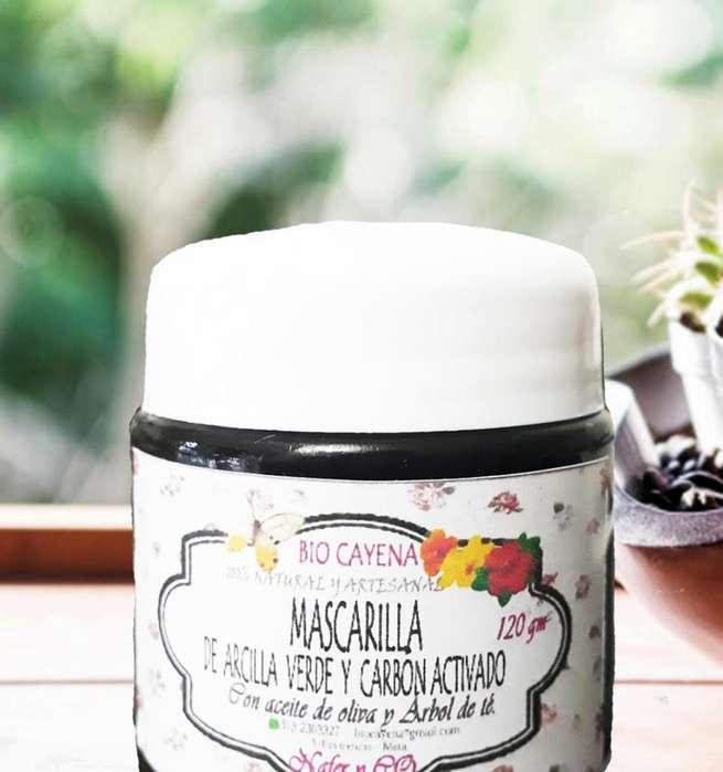 Mascarilla Detox De Arcilla Verde Y Carbón Activado/ 120gm