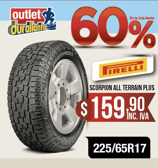 <strong>llanta</strong>S 225/65R17 PIRELLI SCORPION ALL TERRAIN PLUS GRAND VITARA SZ
