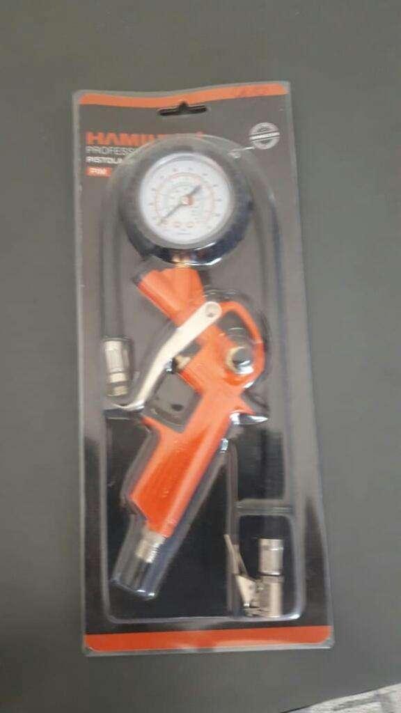 Pistola de Inflar con Manometro