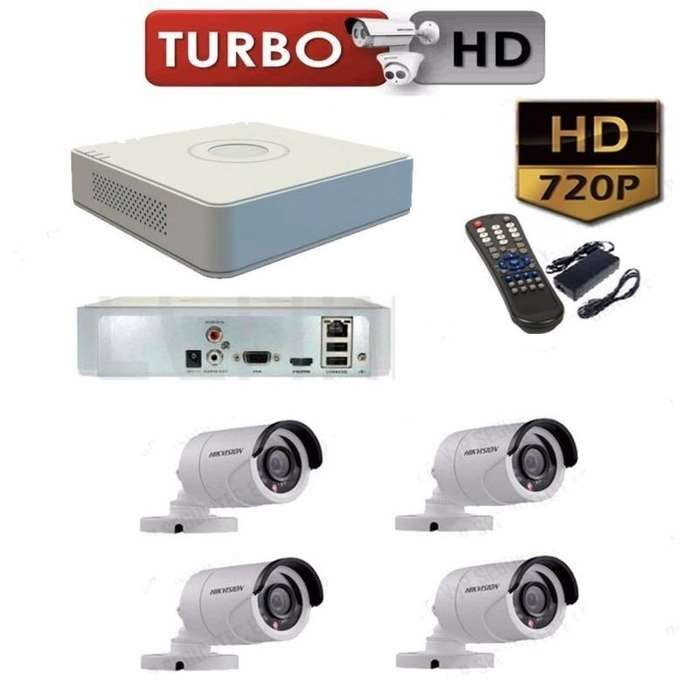 Kit 4 Cámaras Seguridad Hd 720p Dvr Hikvision Turbo Hd