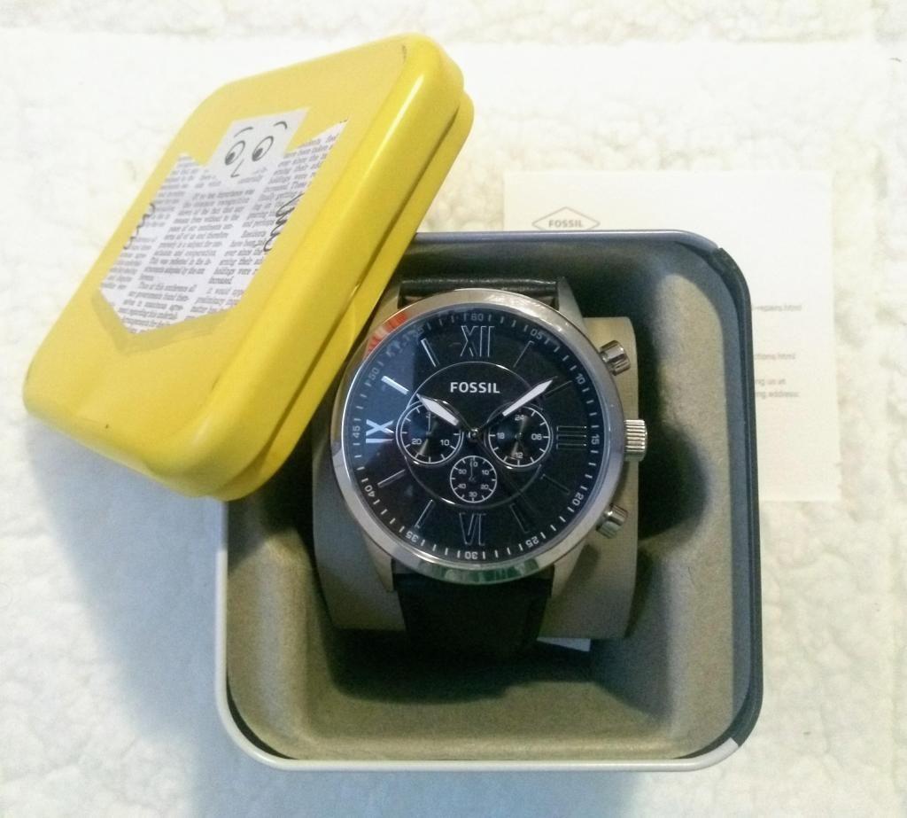 nuevo producto d0e7d 67f3c Reloj Fossil Negro Cronografo Pulso de cuero BQ1130 - Bogotá