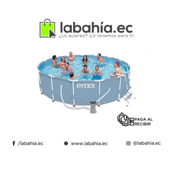 Piscina Intex con Bomba, Filtro y Escalera 4.57 x 1.07 cm