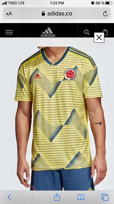 Camiseta original Adidas seleccin Colombia