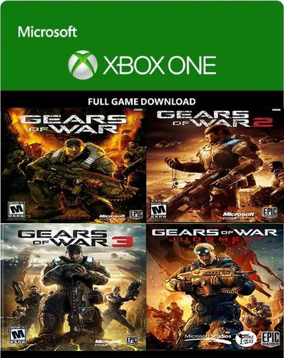 Gears Of War 123 y Jugmen Xbox One DGITAL