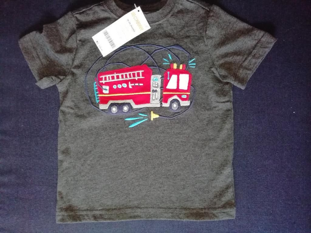 Camiseta de Gyboree Carro Bomberos
