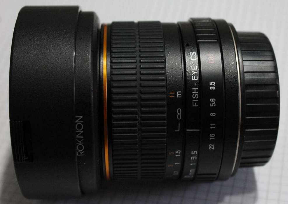 Lente Ojo de Pez Rokinon 8mm Canon en Excelente estado!!!