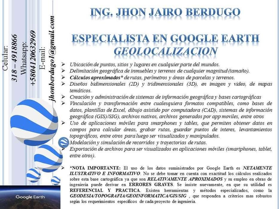 ESPECIALISTA Y ANALISTA GIS / SIG SISTEMAS DE INFORMACIÓN GEOGRÁFICA ARCGIS GVSIG AUTOCAD GOOGLE EARTH APPS