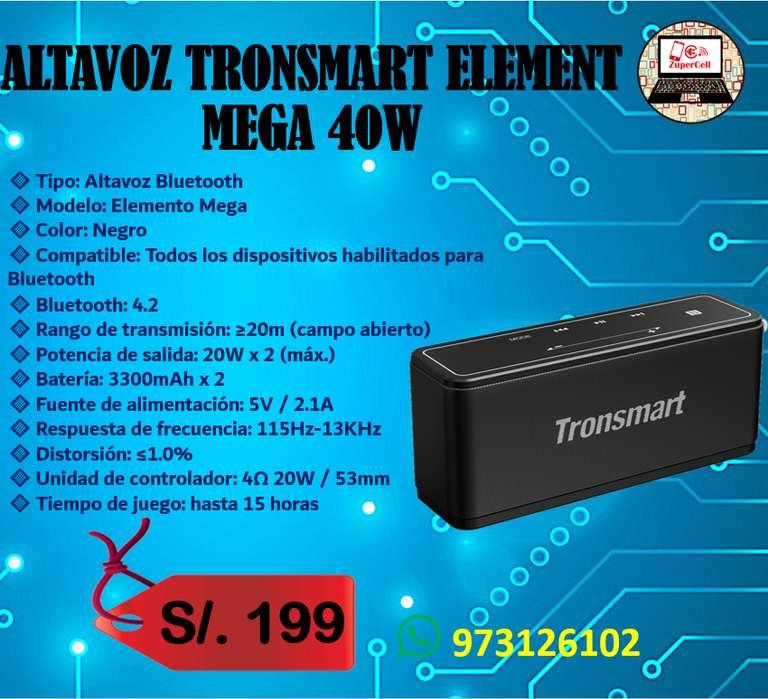 ALTAVOZ TRONSMART ELEMENT MEGA con 40W de potencia
