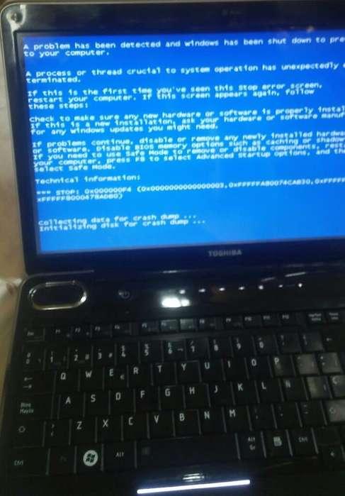 Laptop <strong>toshiba</strong> I7 con Pantallazo Azul