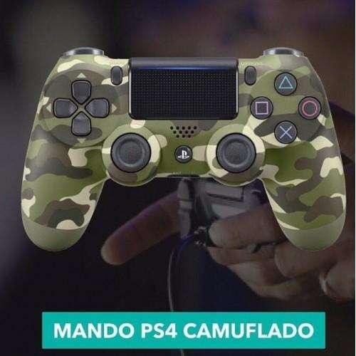 Control Ps4 Camuflado Dualshock 4 Verde y Gris