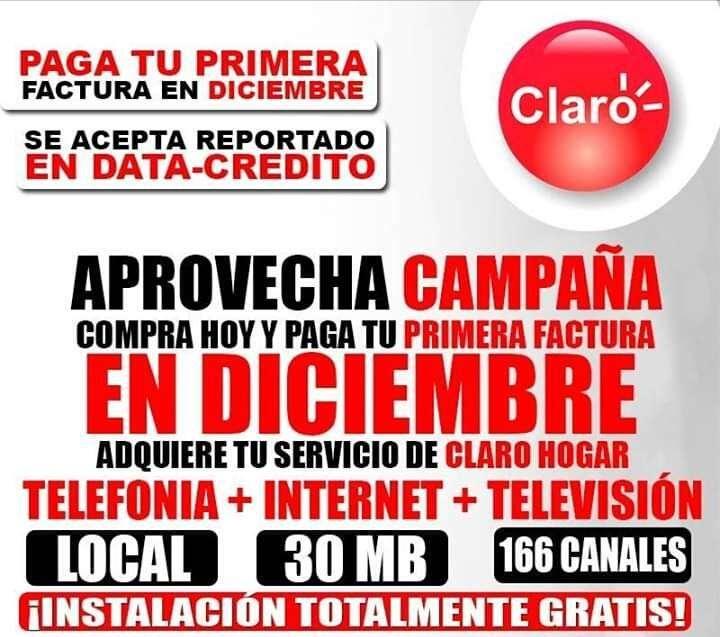 CLARO TV TELEFONIA INTERNET 30 MEGAS