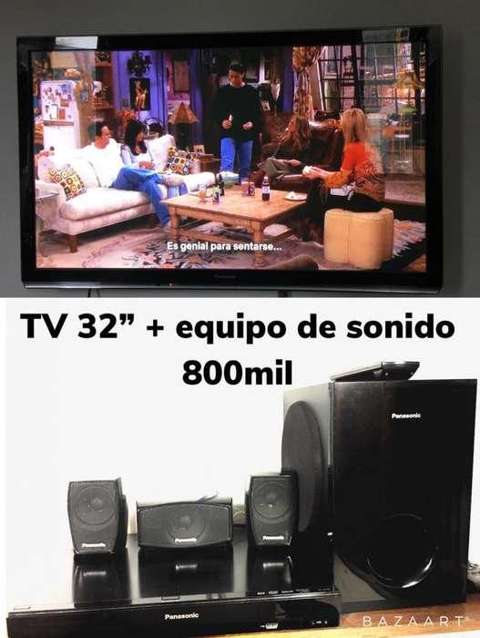 Televisor Y Equipo de Sonido