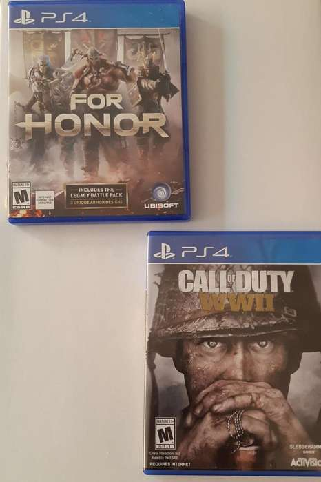 Ps4 For Honor Call of duty WWII Poco uso
