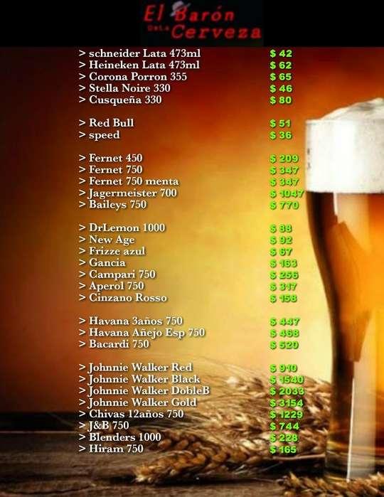 Delivery de Bebidas 24hs Caba