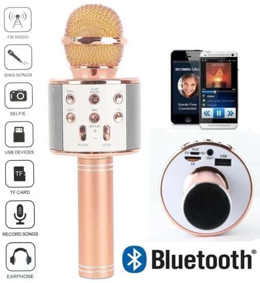 Micrófono Portátil Parlante Karaoke Bluetooth Parlantes