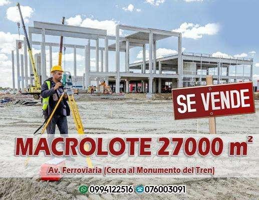Macro lote 27000 M2 Av Ferroviaria a 100 M del Tren