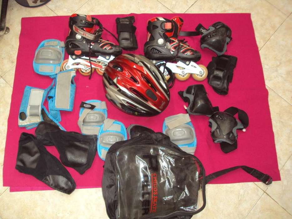 Patines, casco, protectores