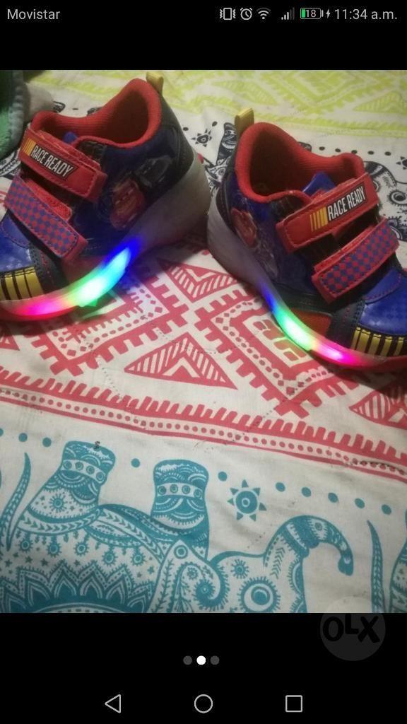Zapatos Tenni Pattin Alumbran