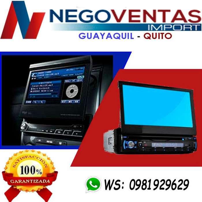 RADIO PARA CARRO RETRACTIL USB SD AUX CD DVD BT FM PANTALLA 7 PULGADAS