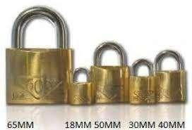 Candado bronce 40mm d/traba arco cementado 606