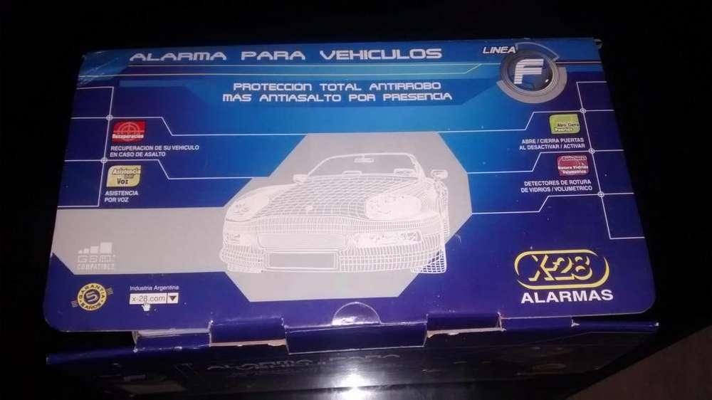 Vendo Alarma para Auto X28 F8H Usada con dos juegos de controles.