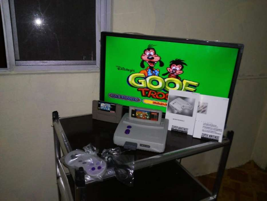 Super Nintendo Nuevo con Tropa Gufy