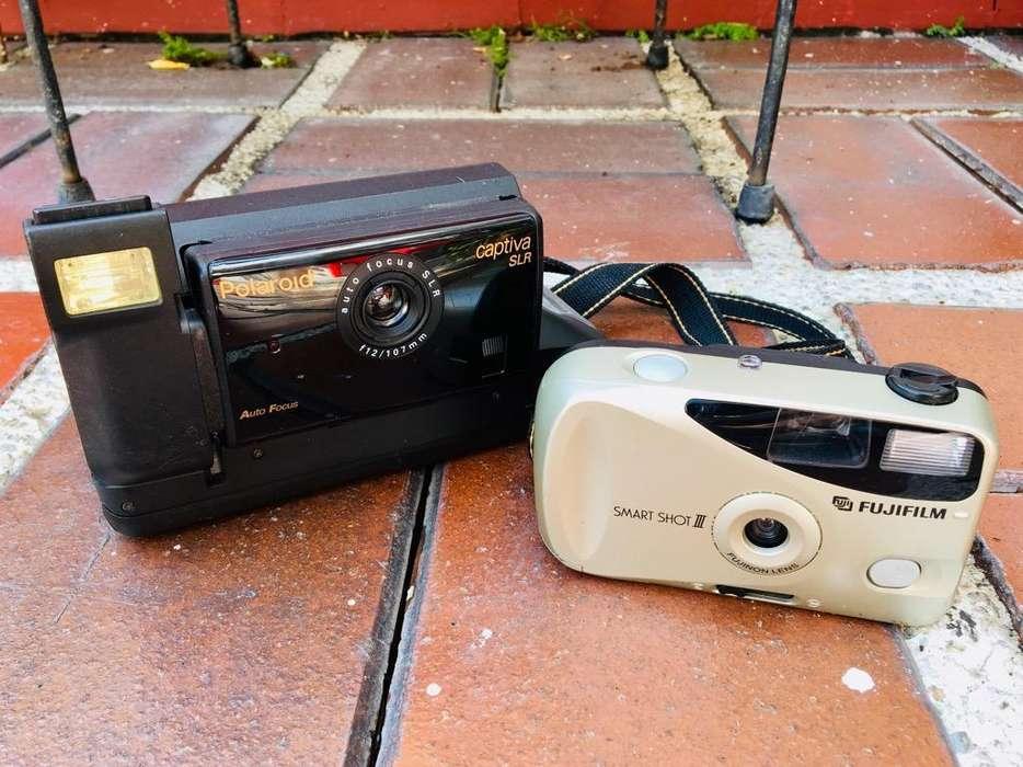Camara Polaroid Captiva SLR y Fujifilm