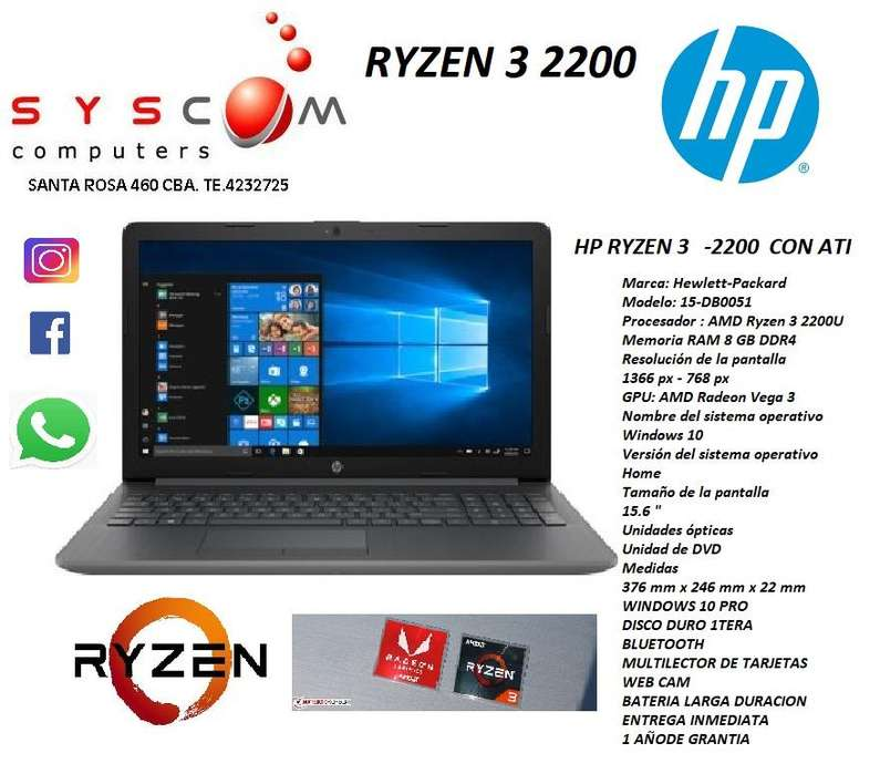 notebook hp ryzen 3