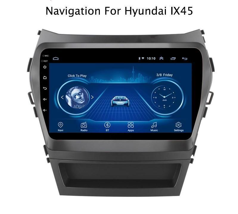 SANTA FE 2013 AL 2017 ANDROID WIFI AUTORADIO HYUNDAI USB, GPS, BLUETOOTH, MP4, MP3- CAMARA DE RETROCESO
