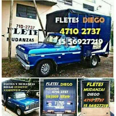 Fletes y Mudanzas EN ZONA NORTE ,DIEGO 1556927219 boulogne,san isidro