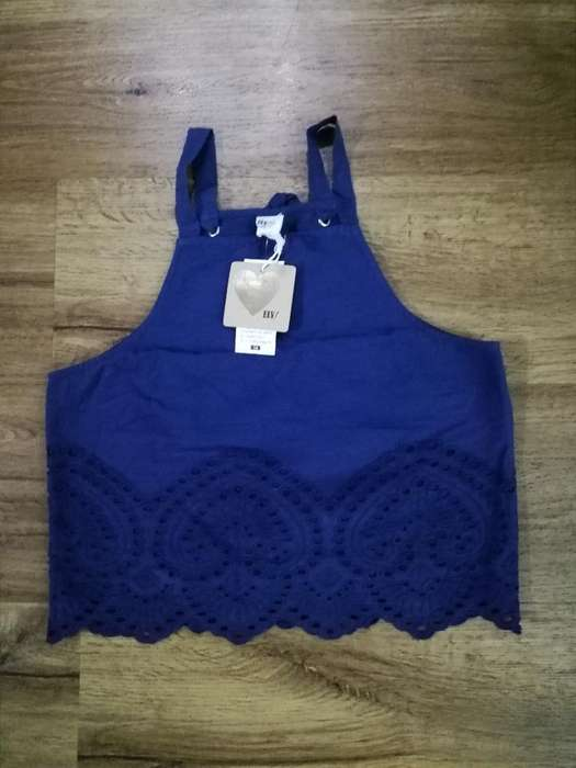 Blusa Azul Niña Nueva Talla 12